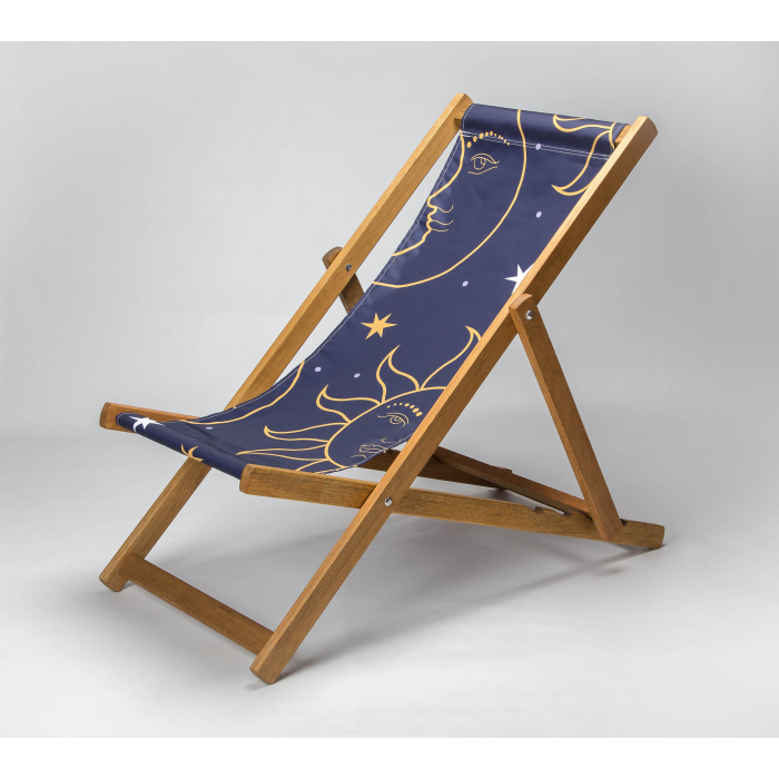sun and moon celestial deckchair