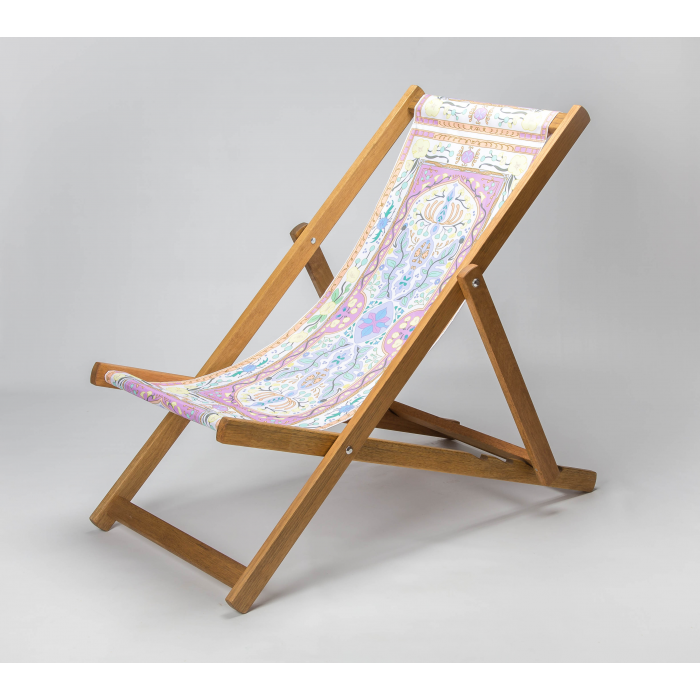 Colourful Tapestry print for Croyde Deckchair