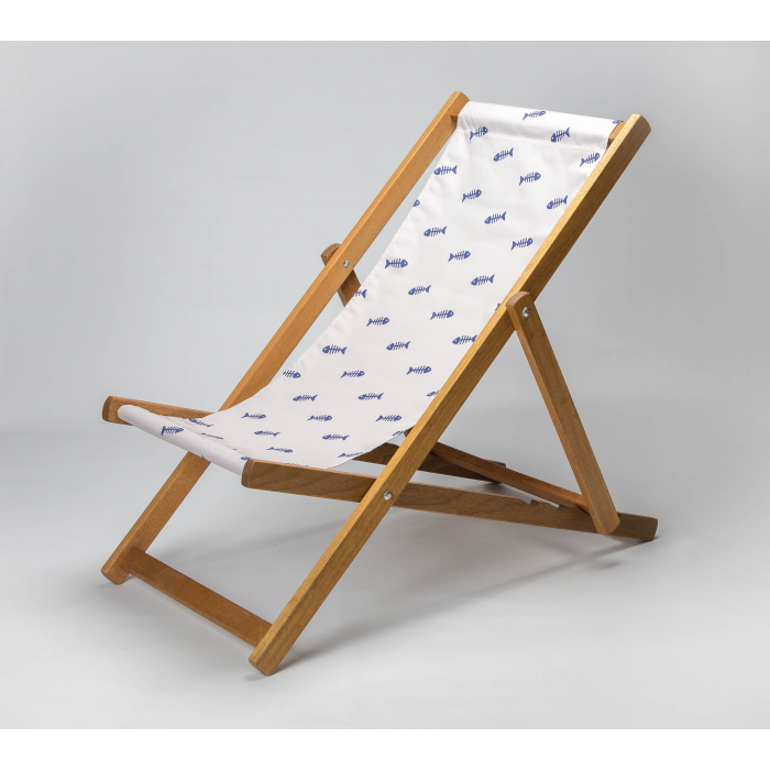 fishbone skeleton deckchair