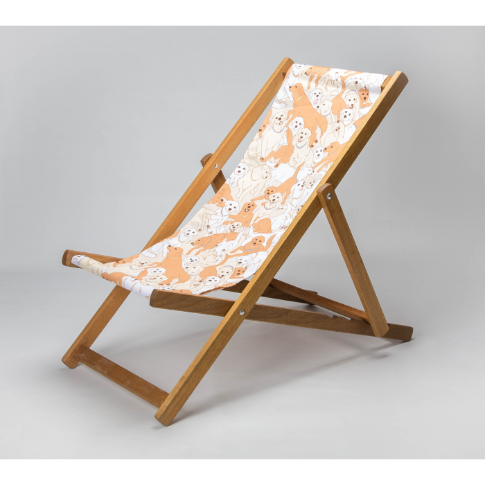 Golden Retrievers print for Croyde Deckchair