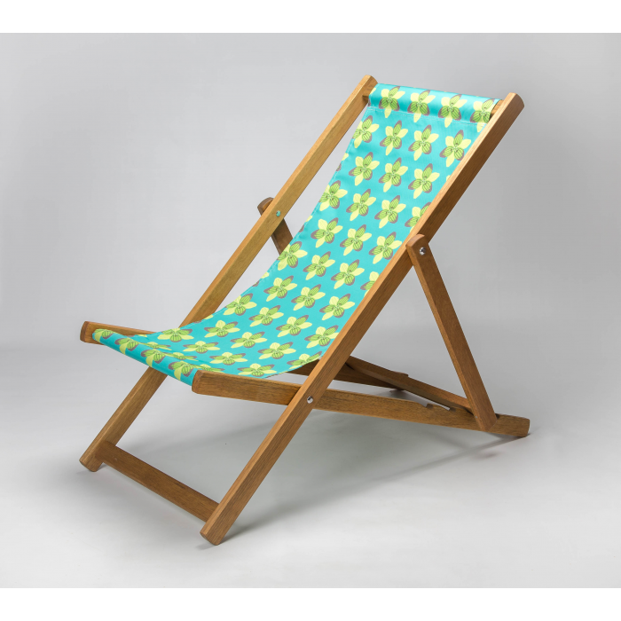 Graphic Lily print for Croyde Deckchair