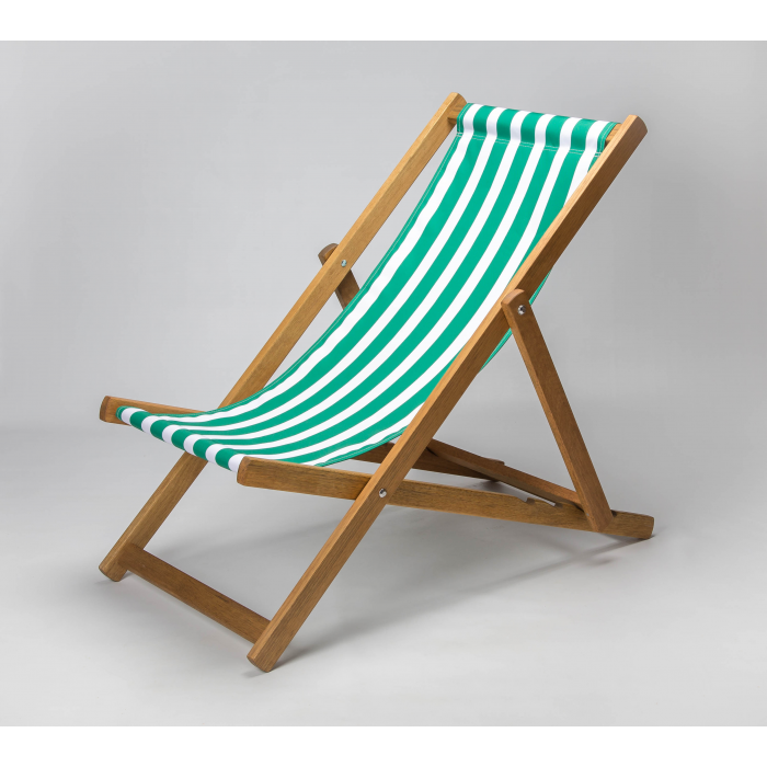 Green Stripes print for Croyde Deckchair