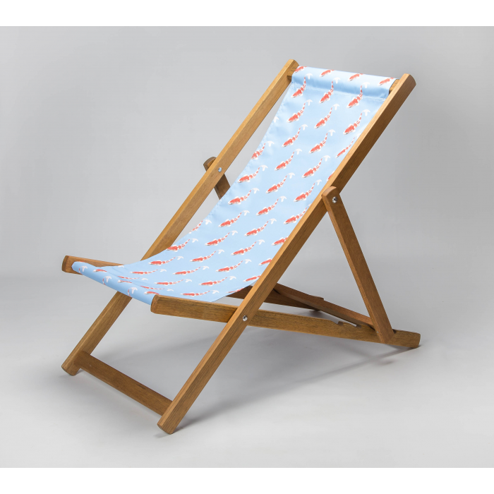 Koi - Blue print for Croyde Deckchair