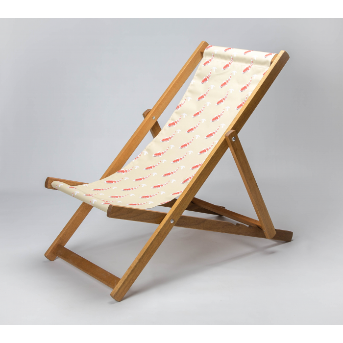 Koi - Neutral print for Croyde Deckchair