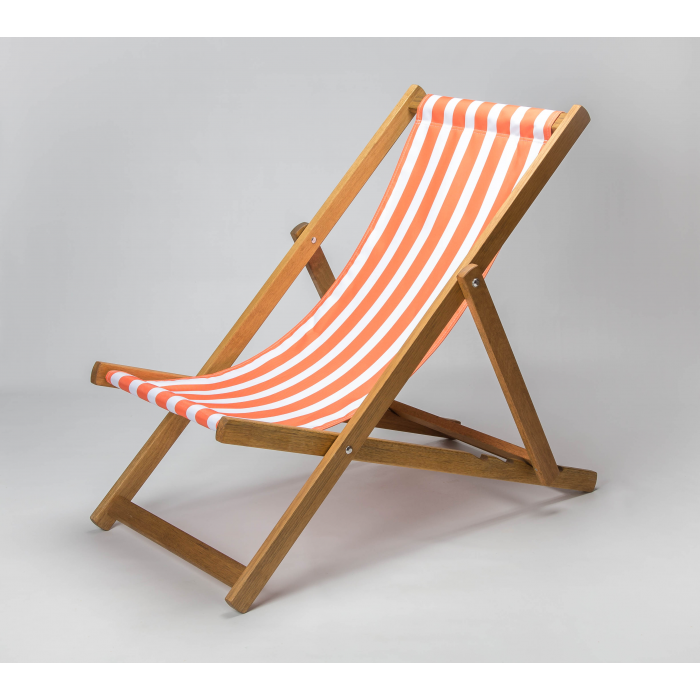 Orange Stripes print for Croyde Deckchair