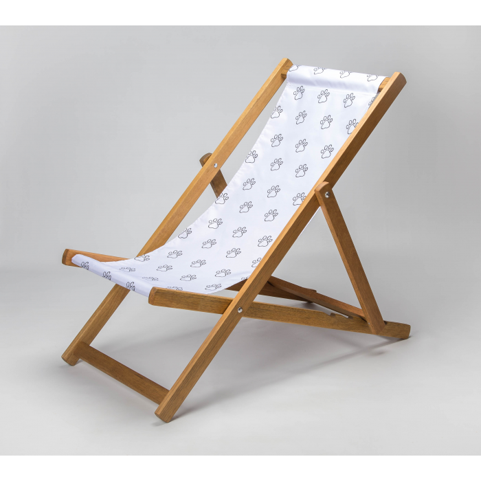 Paw Outline print for Croyde Deckchair