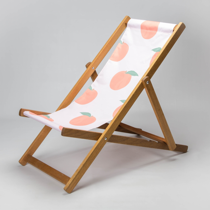 Juicy peach print deckchair