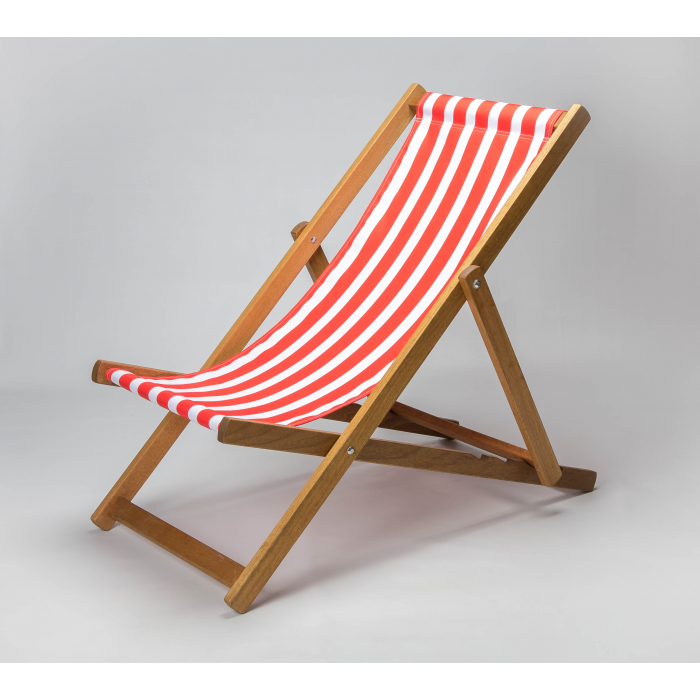 Red Stripes print for Croyde Deckchair