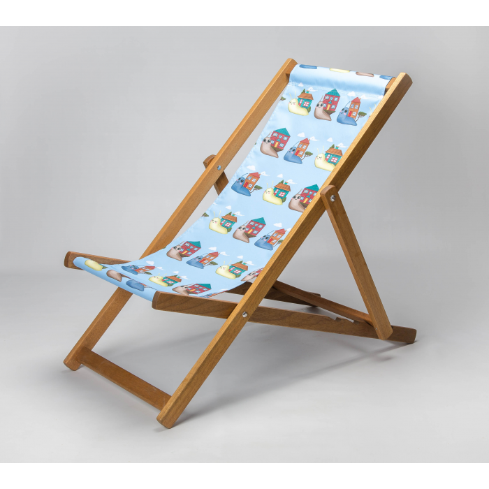 Snails - Blue print for Croyde Deckchair