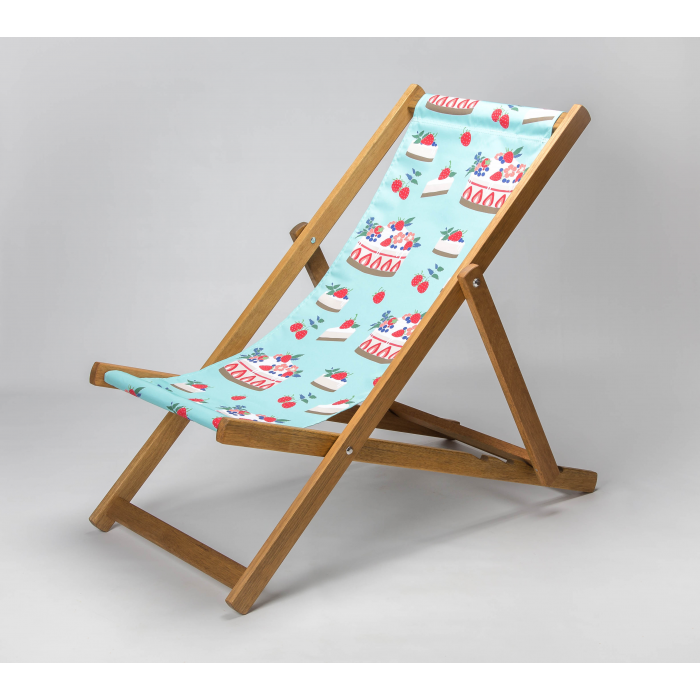Strawberry Cheesecake print for Croyde Deckchair