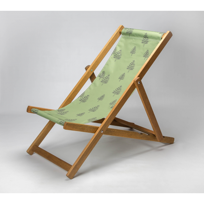Woodland tree forest print deckchair