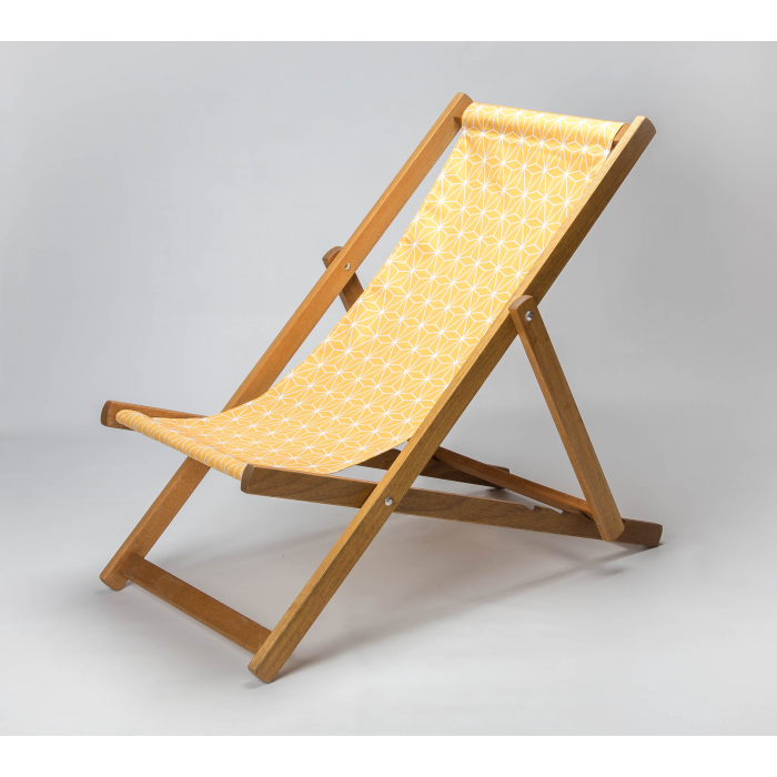 Trendy Geo - Mustard print for Croyde Deckchair