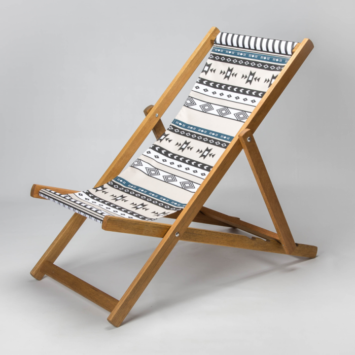 Tribal print for Croyde Deckchair
