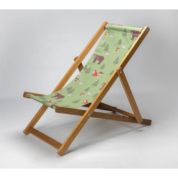 Woodland Animals print for Croyde Deckchair