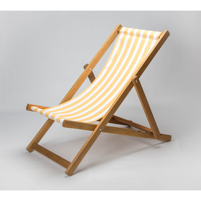 Yellow Stripes print for Croyde Deckchair