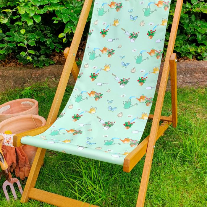 Garden Days - Anna Platts Collab print for Classic Deckchair
