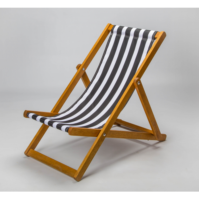 black and white stripe deckchair