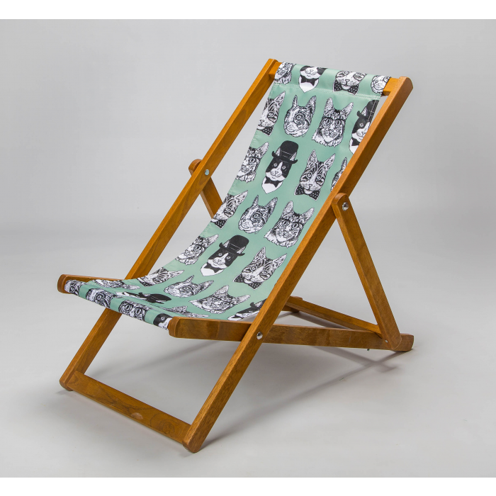 Dapper Cats print for Elbury Deckchair