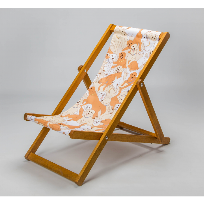 golden retriever deckchair