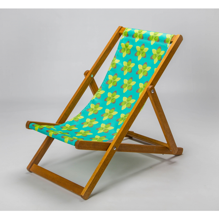 graphic lily deck chair