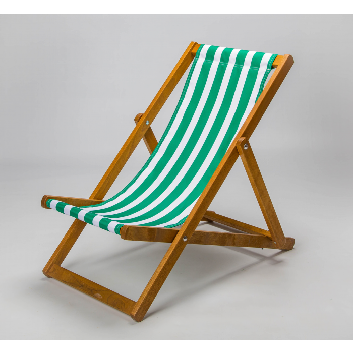 green and white stripes deckchair