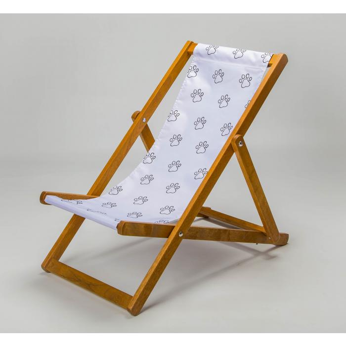 paw print deckchair
