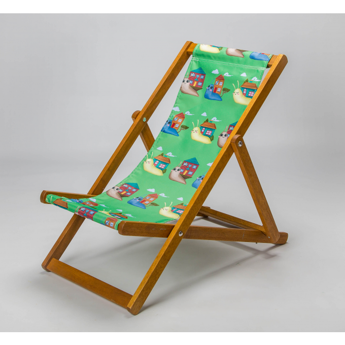 smiley green snails deckchairs