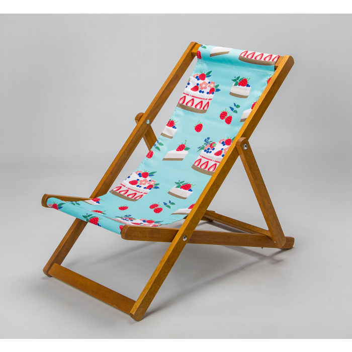 Strawberry cheesecake deckchair