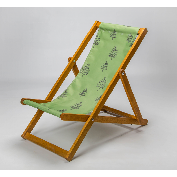 Woodland trees print deckchair