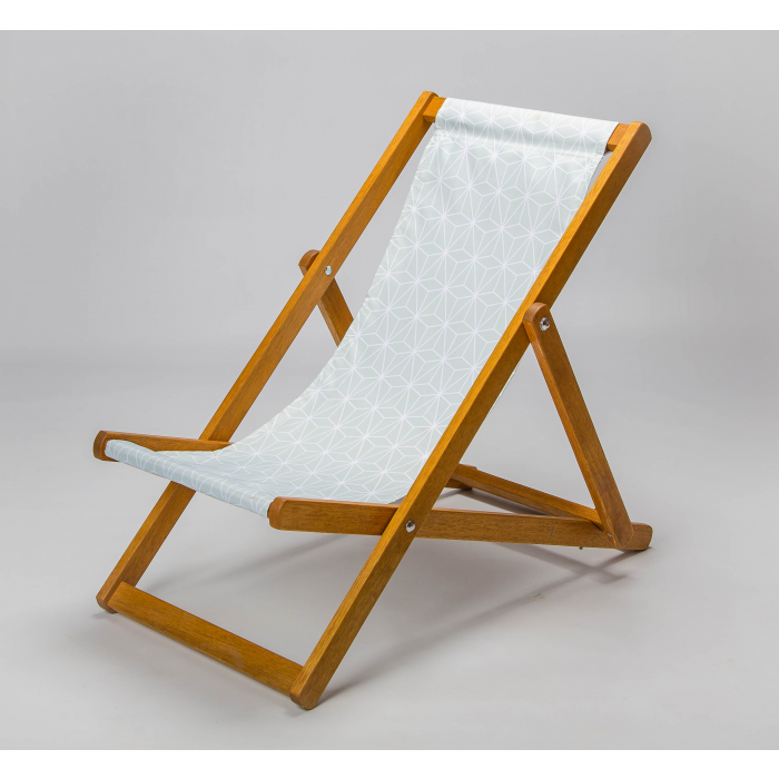 grey geometric deckchair