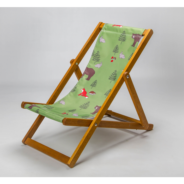 Woodland animals deckchair