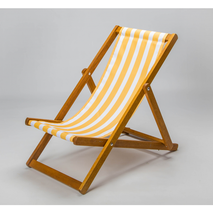 yellow and white stripes deckchair