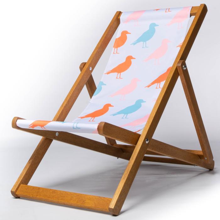 Bird silhouette deckchair