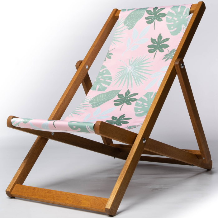 cheese plant botanical print deckchair