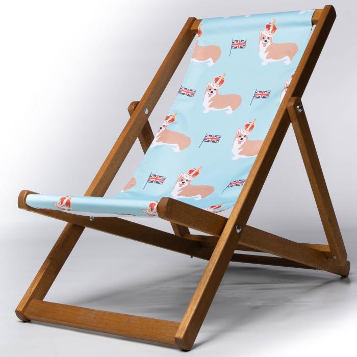 Corgi print deckchair