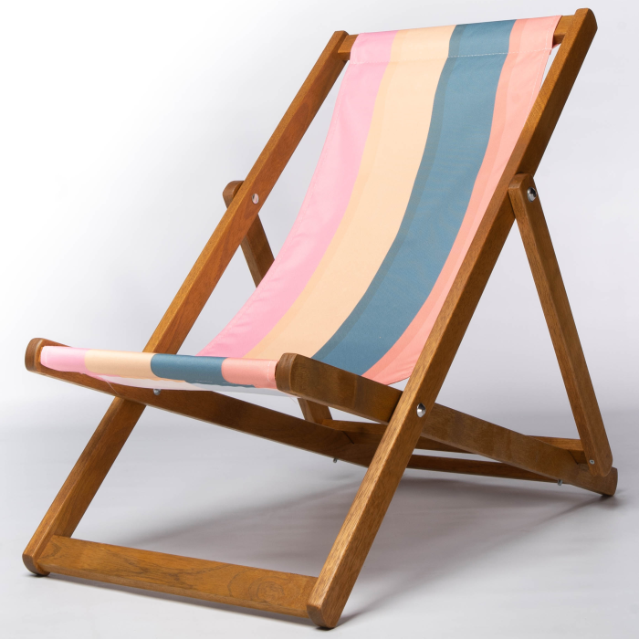 colourful stripe deckchair