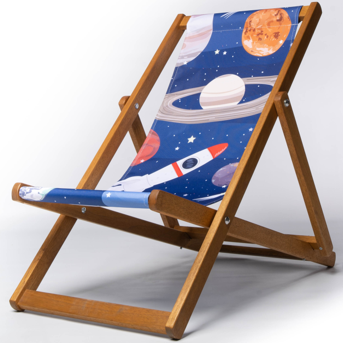 Planet night sky rocket deckchair