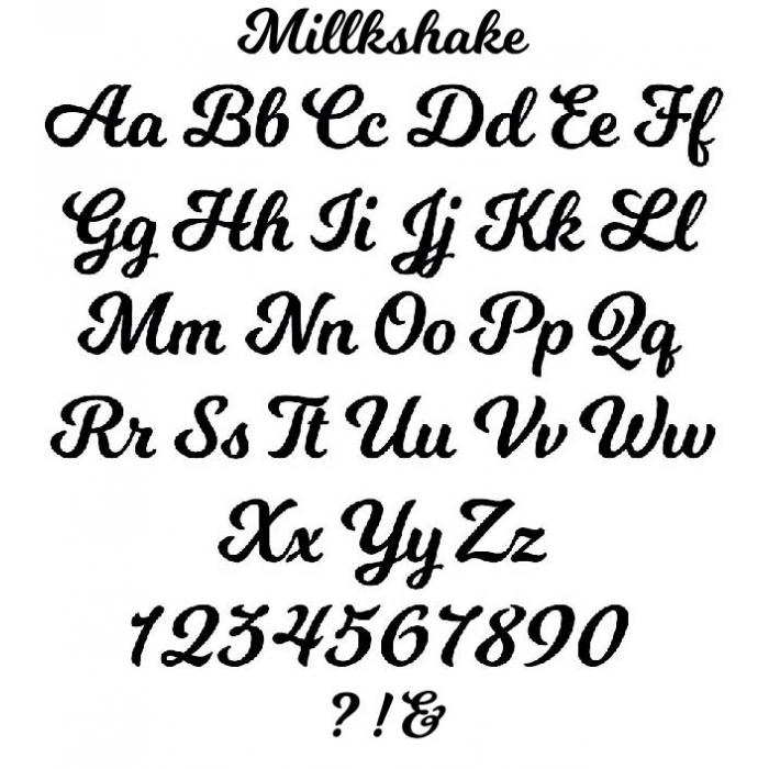 Milkshake Font Sample