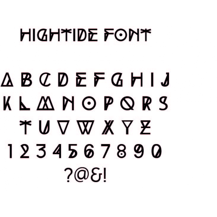 Font example - High Tide