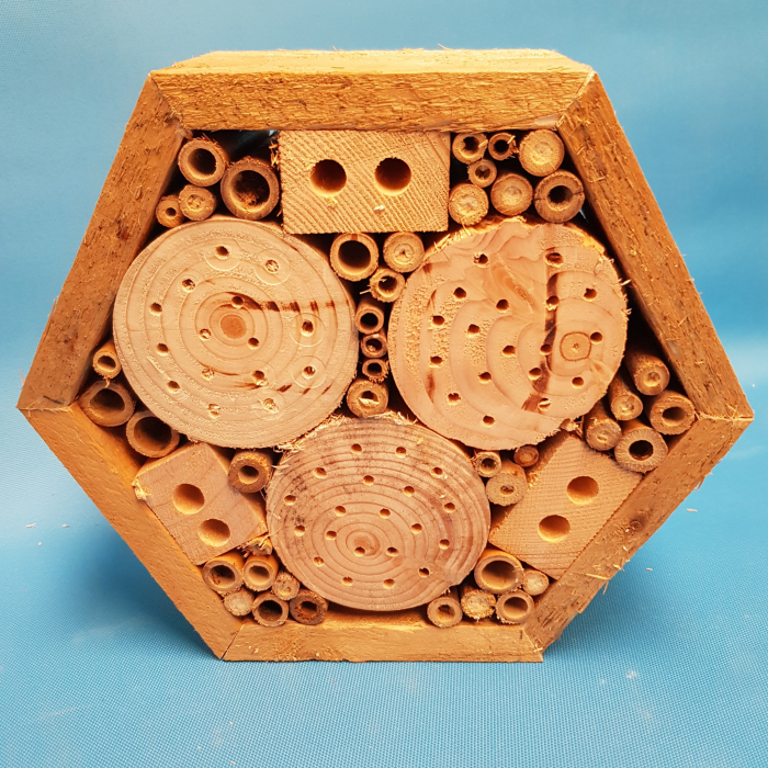 Hexagon bee hotel
