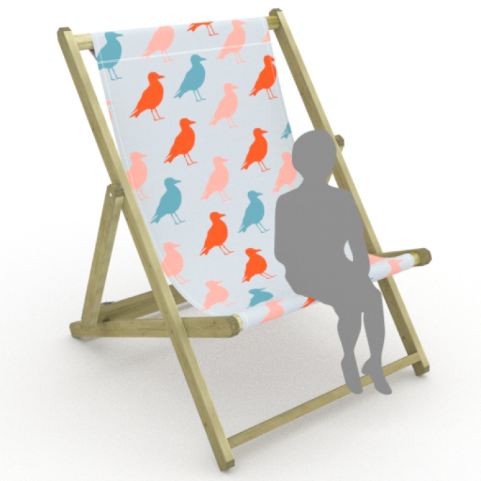 Birds print for Saunton Giant Deckchair