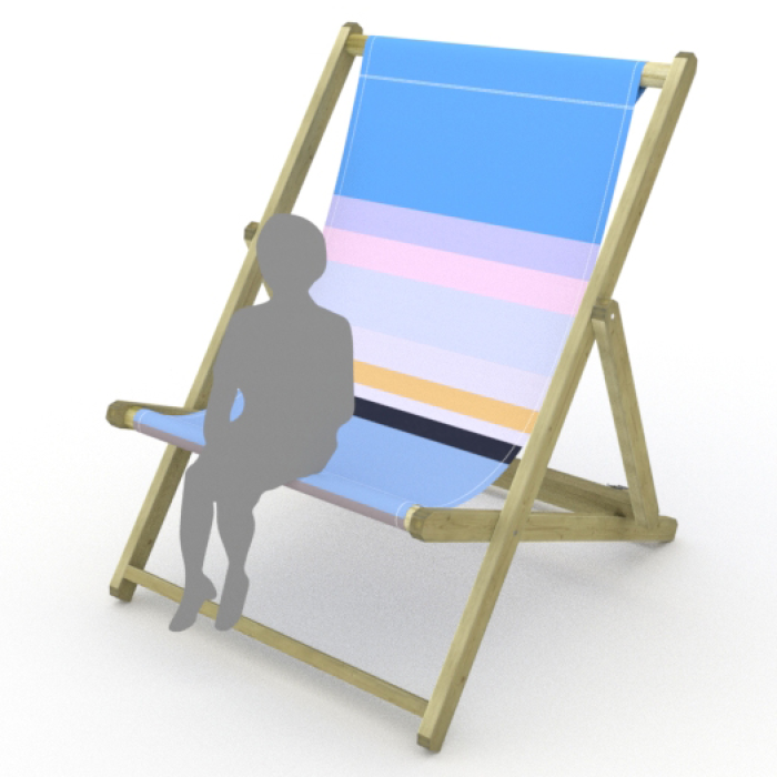 Brighton print for Saunton Giant Deckchair