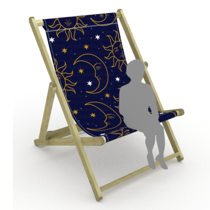 Celestial print for Saunton Giant Deckchair