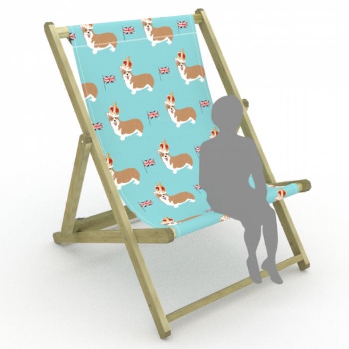 Corgis print for Saunton Giant Deckchair