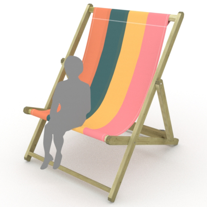 Dark Stripes print for Saunton Giant Deckchair