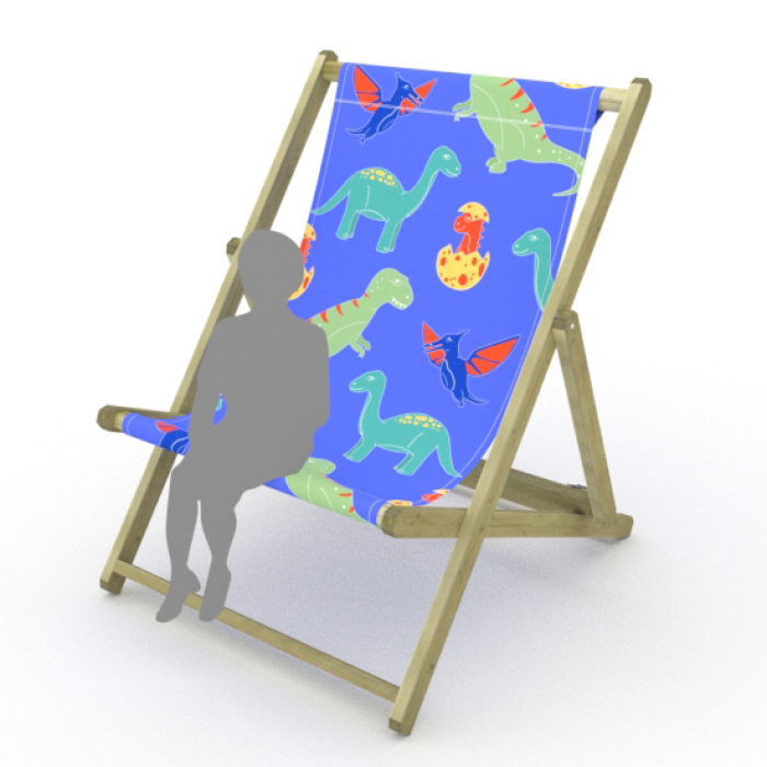 Dinosaurs print for Saunton Giant Deckchair