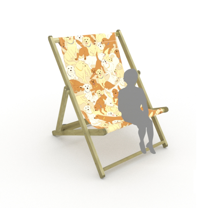 Golden Retrievers print for Saunton Giant Deckchair