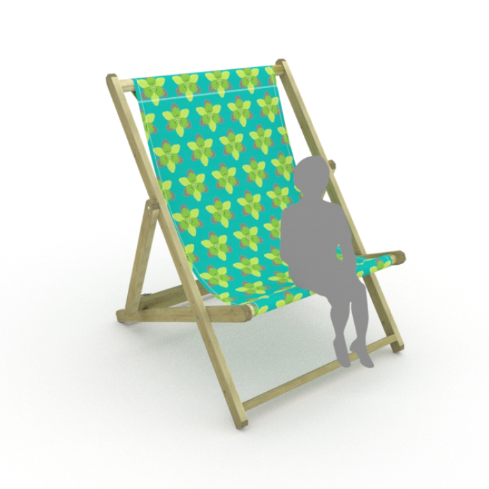 Graphic Lily print for Saunton Giant Deckchair