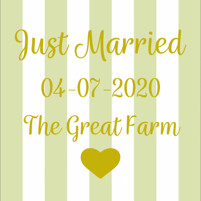 Just Married - Customisable - Taupe print for Saunton Giant Deckchair