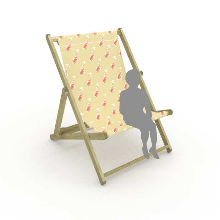 Koi - Neutral print for Saunton Giant Deckchair